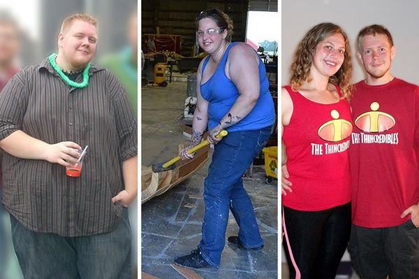 【比較画像】太ったカップルが痩せた (17)
