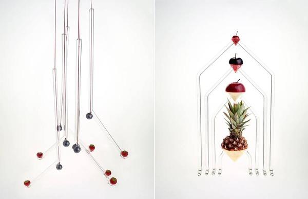 フルーツを飾るためのガラスのユニークデザイン (1)
