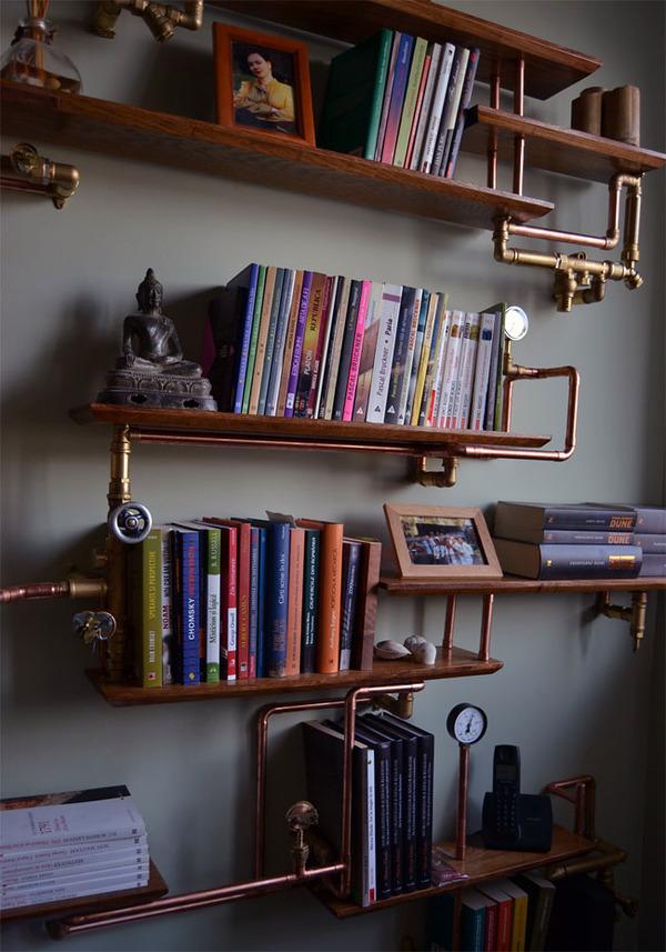 スチームパンクっていいよね。真鍮、銅、金属部品で作る家具 (7)
