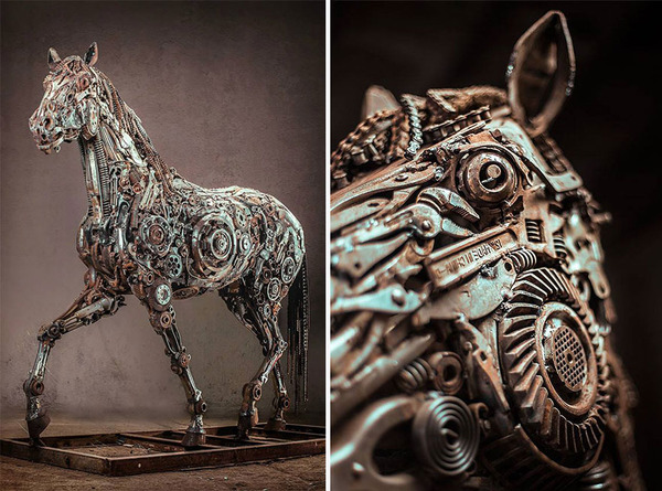 ペガサスの動物彫刻2