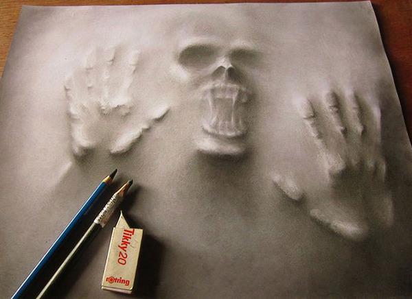 死霊が浮き出るホラーな3D絵画 jerameel-lu 3