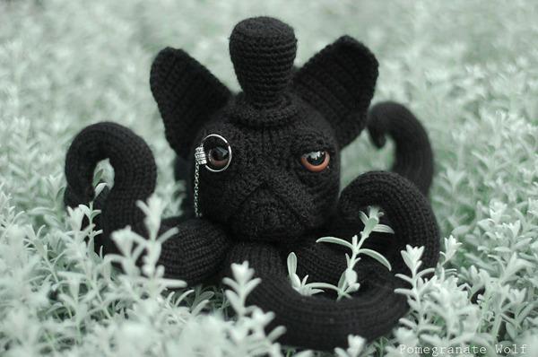 キモカワ?タコの足とイヌの顔が合体している編み物『Octodogs』 (2)