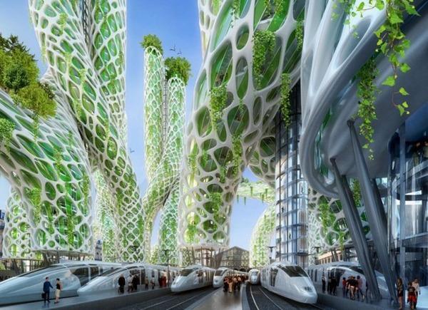 2050年の未来都市スマートシティinパリの構想イメージ