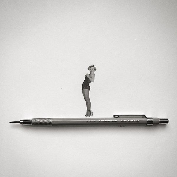超小さいのに写実的!鉛筆の芯で描くミニチュア肖像画 (7)