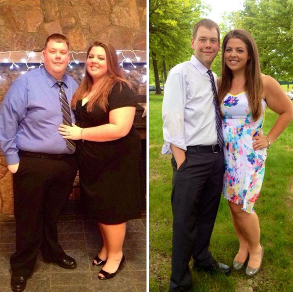 【比較画像】太ったカップルが痩せた (1)