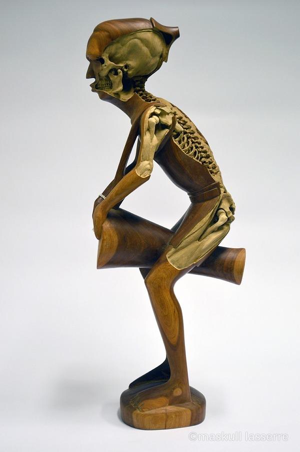 人間の骸骨彫刻 Maskull Lasserre 4