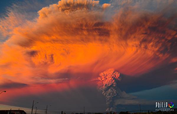 チリのカルブコ火山噴火 2015年 12