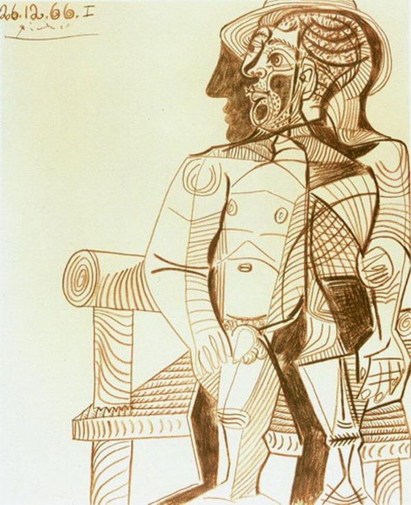 ピカソの自画像!15歳から90歳までの肖像画 (11)