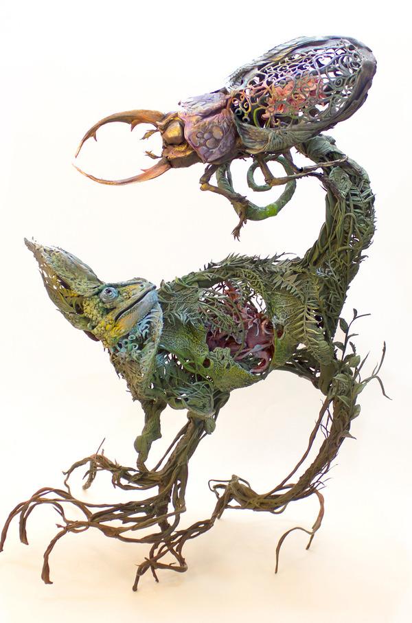 動物と植物が融合した幻想的な彫刻!Ellen Jewettの新作紹介 (5)