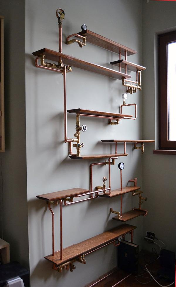 スチームパンクっていいよね。真鍮、銅、金属部品で作る家具 (8)
