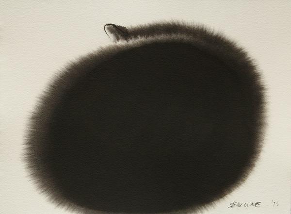 水墨画のような黒猫の水彩画 エンドレ・ペノベック2