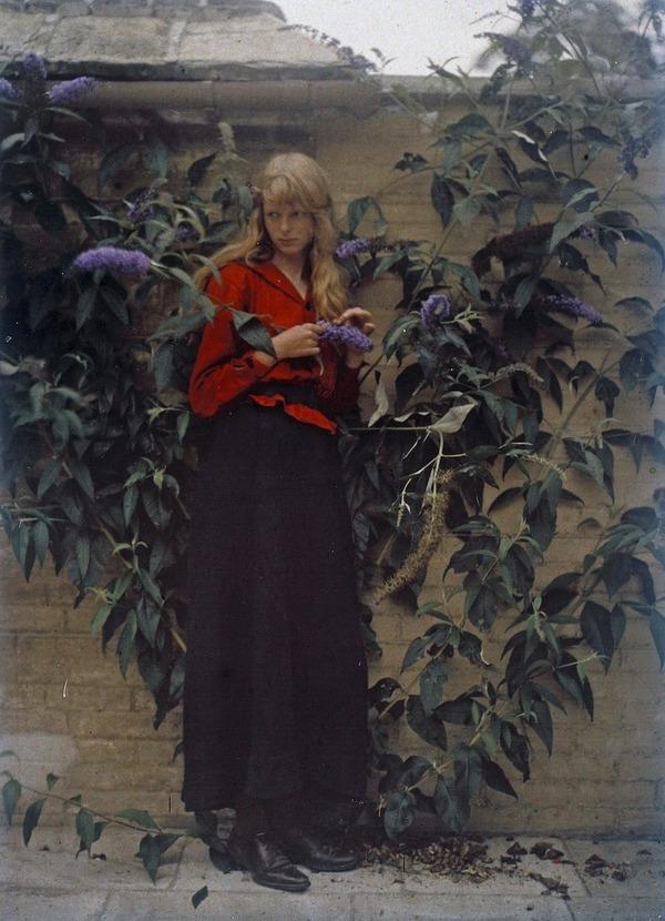 100年前のカラー写真,クリスティーナ,オートクローム 7