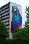 でかっ!超巨大な鳩(ハト)の壁画アートがカッコイイ