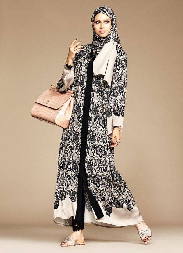 ヒジャブとアバヤのモダンファッション by ドルチェ&ガッバーナ (10)