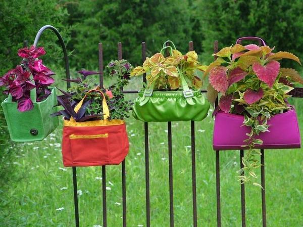 5 古いバッグで空中庭園