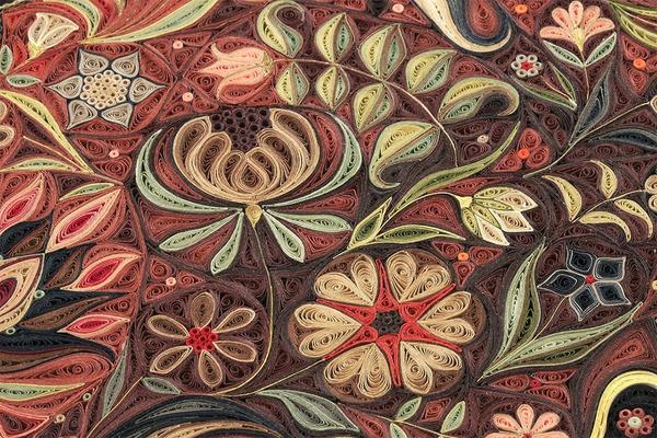 紙で作られた絨毯など、超大作なペーパークイリングアート! (10)