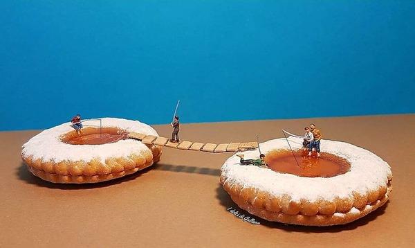 美味しそうな洋菓子で作るミニチュアアート (1)