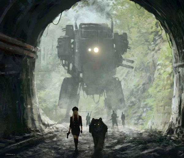 レトロな時代背景に機械的なSF要素。戦争を描いた空想世界 (2)