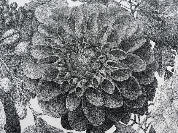 700万の点で描く!370時間をかけて制作された絵画『Autumn』 (9)