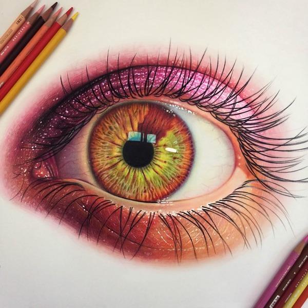 瞳とメイク