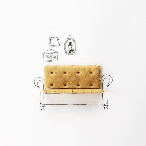 アイディア無限大!物を組み合わせたユニークなイラスト (21)