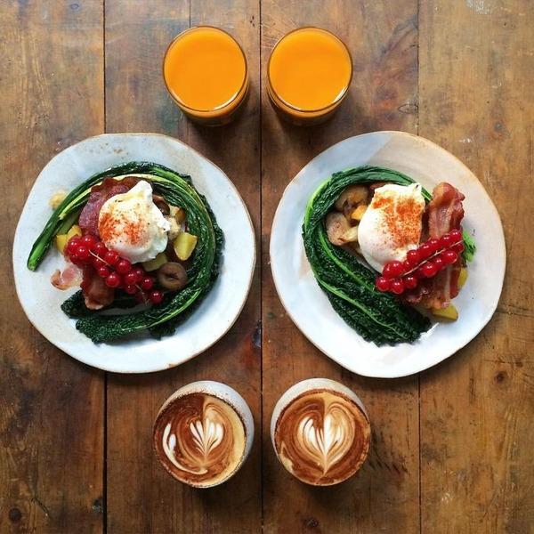 美味しさ2倍!毎日シンメトリーな朝食写真シリーズ (39)