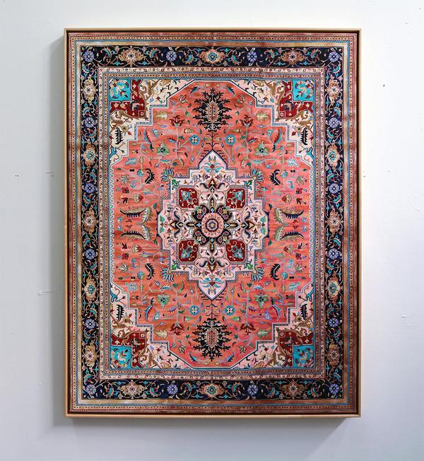 ゴージャスなペルシャ絨毯…を限りなく再現した絵画 (6)