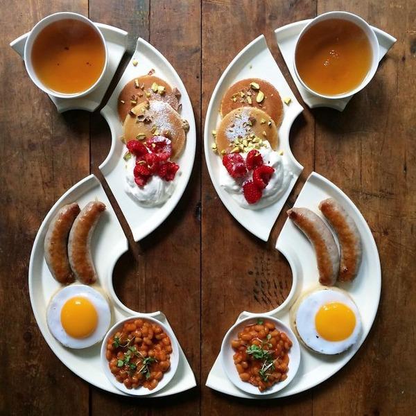 美味しさ2倍!毎日シンメトリーな朝食写真シリーズ (31)