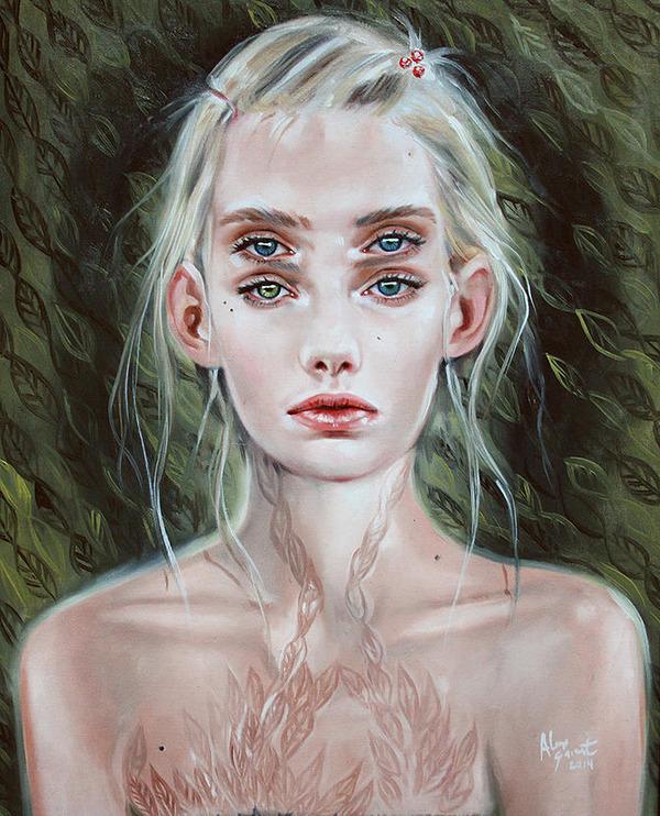 ダブルビジョンの錯視絵画アート  アレックス・ガーランド 2