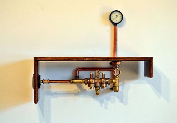 スチームパンクっていいよね。真鍮、銅、金属部品で作る家具 (10)