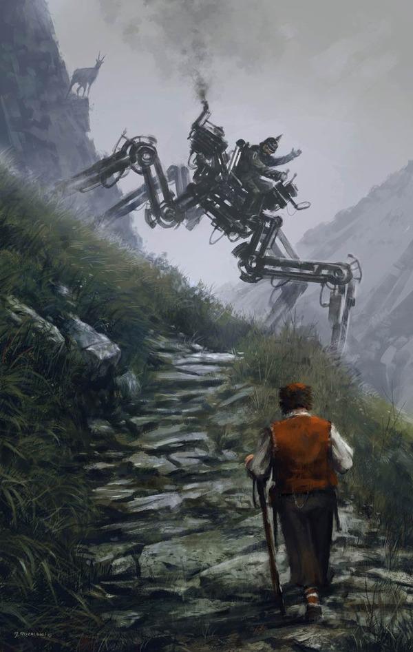 レトロな時代背景に機械的なSF要素。戦争を描いた空想世界 (21)