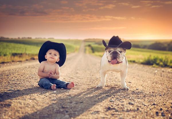 ペットは大切な家族!犬や猫と人間の子供の画像 (94)