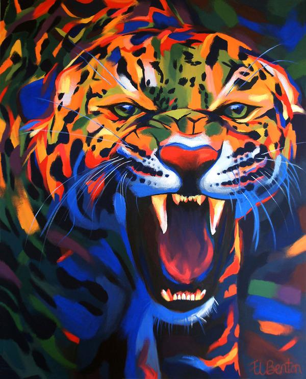 超カラフルな動物の肖像画シリーズ (16)