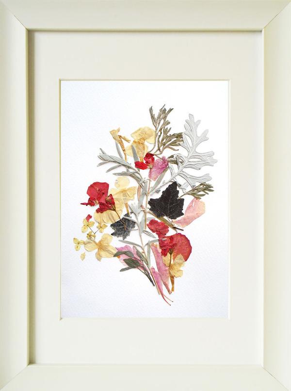 葉や花で自然を描く!植物を素材にした押し花の絵 (6)