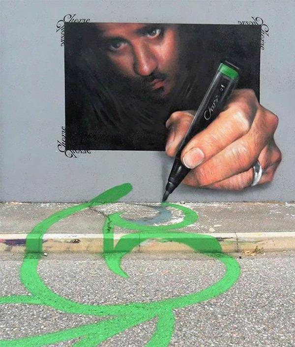 3Dペイントによる壁画ストリートアート 4