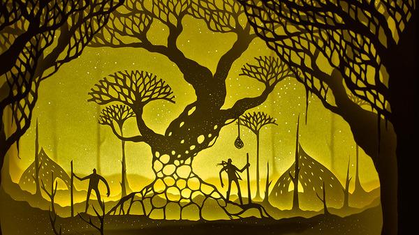 紙のジオラマ!幻想的な架空世界を描くペーパーアート (10)