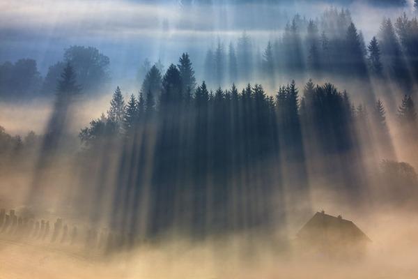 陽が差し込んだポーランドの景色9