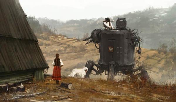 レトロな時代背景に機械的なSF要素。戦争を描いた空想世界 (5)