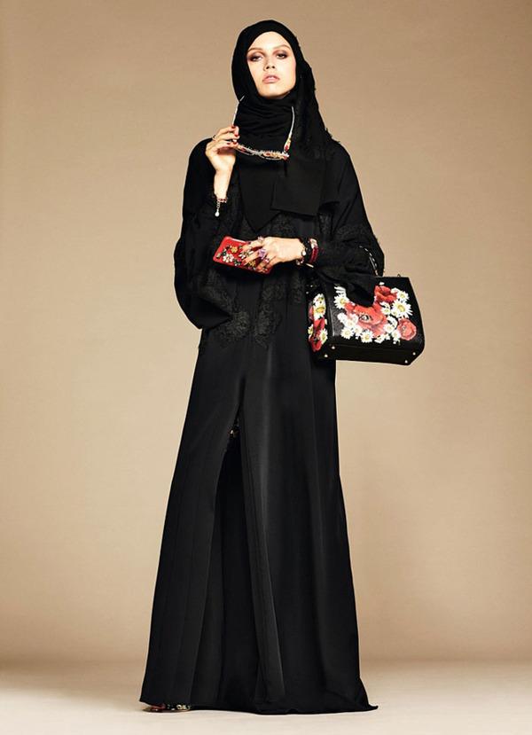 ヒジャブとアバヤのモダンファッション by ドルチェ&ガッバーナ (13)