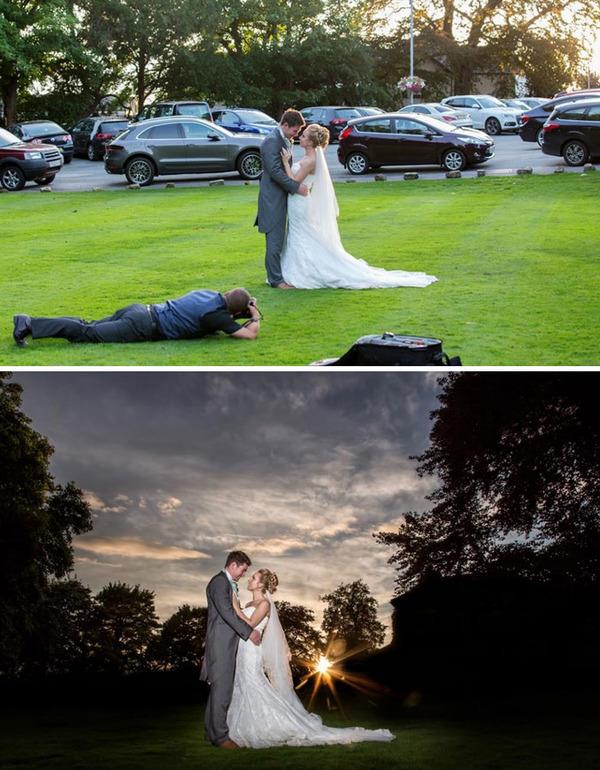 結婚写真の裏で頑張るカメラマンの努力画像 (13)