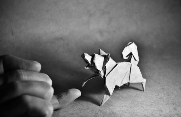 一枚の紙から折り紙で作る動物!折り紙アート (15)