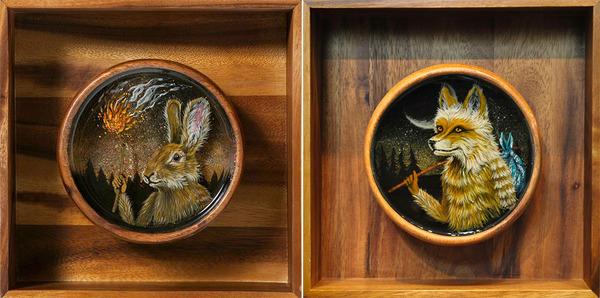 人間に進化したかのような森の動物アート Drew Mosley 3