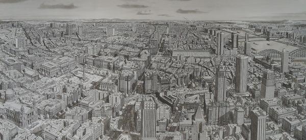 超精密!記憶を頼りに世界の都市景観を描くモノクロ絵画 (16)