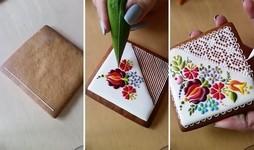 クッキーのデコレーションテクニック!器用さ【動画】