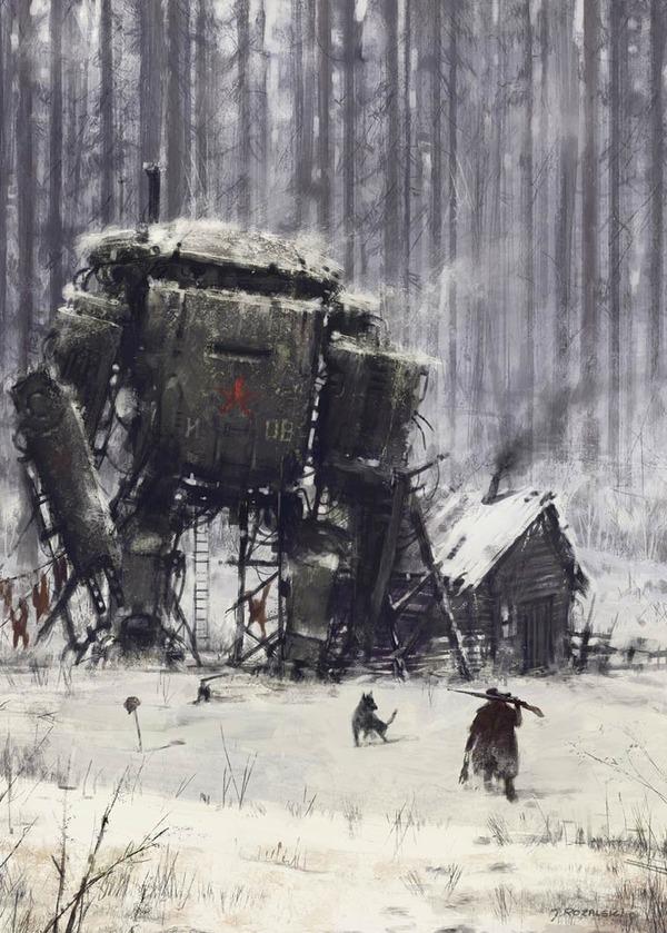 レトロな時代背景に機械的なSF要素。戦争を描いた空想世界 (8)