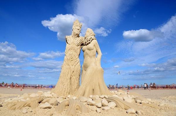 砂の彫刻コンテスト ハンプトン・ビーチ (6)