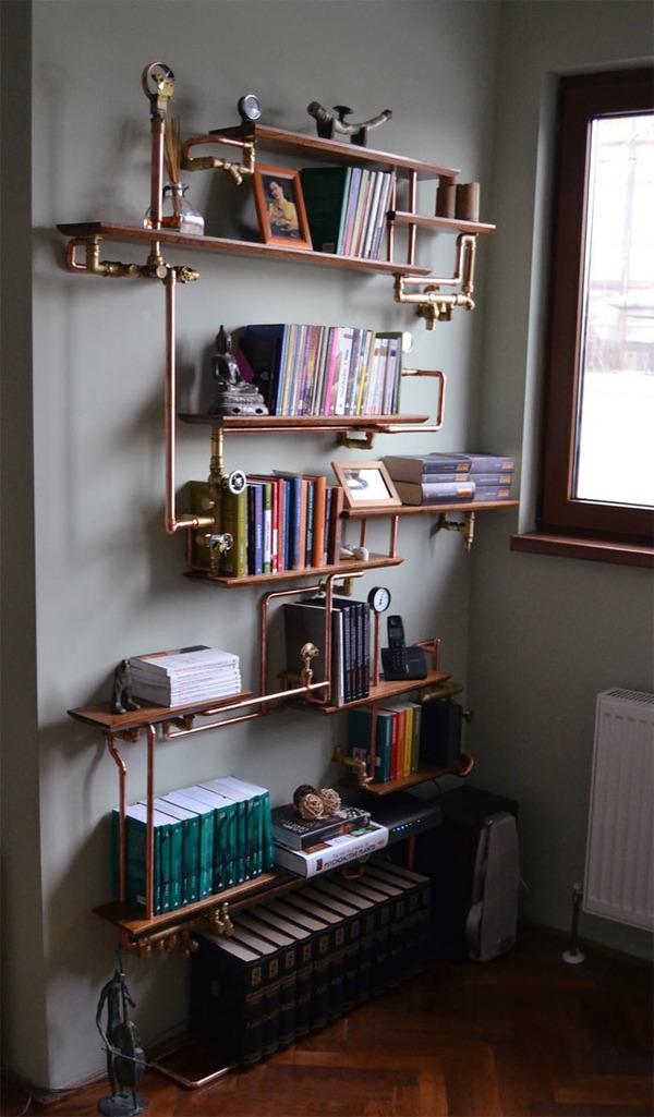 スチームパンクっていいよね。真鍮、銅、金属部品で作る家具 (9)