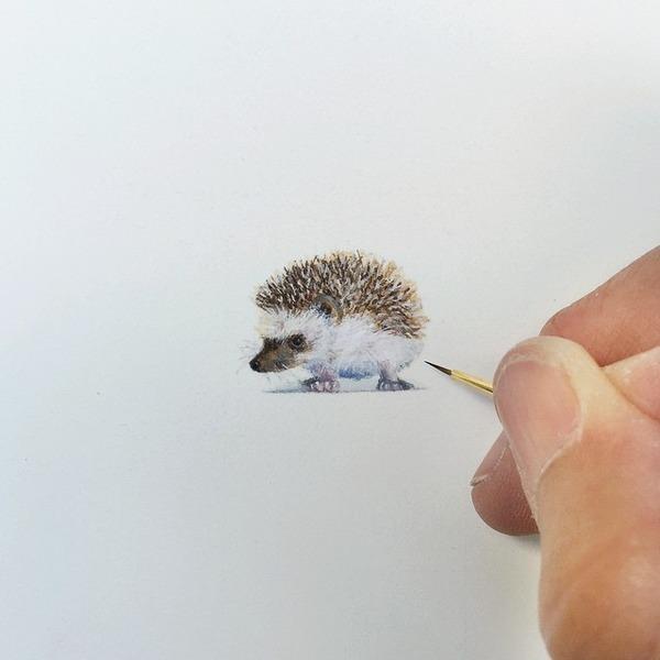 小さいのに細かい所までリアルかわいい!超ミニチュアな絵 (11)
