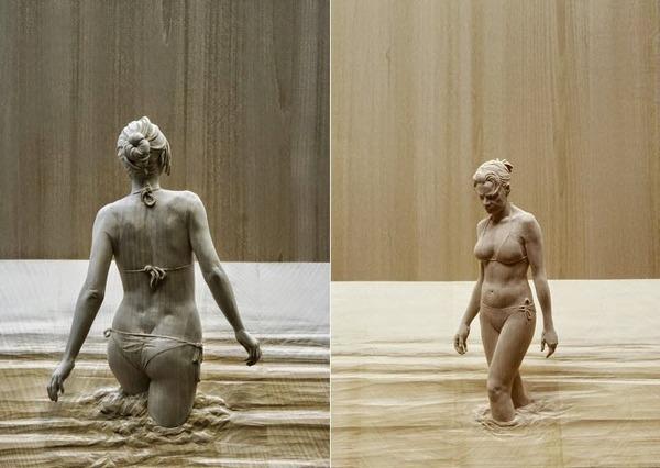 Peter Demetz による木彫りの彫刻