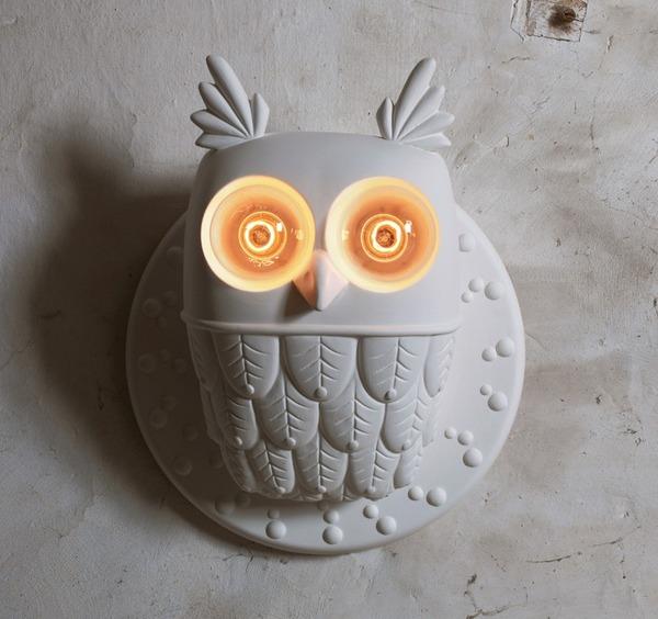 フクロウ型の可愛いランプ 3